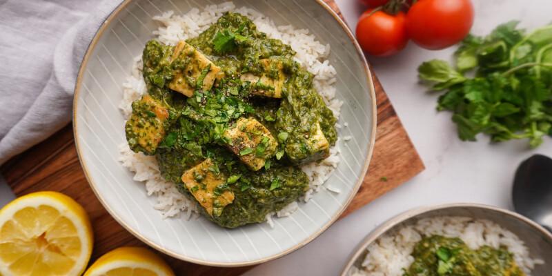 Így még tuti nem ettél spenótot: palak tofu, a vegán indiai csodaebéd