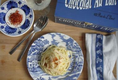 Szingli vacsik: sáfrányos tészta