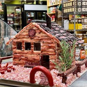 Idén a felvágottból és sajtból készült mézeskalács-házak hódítanak
