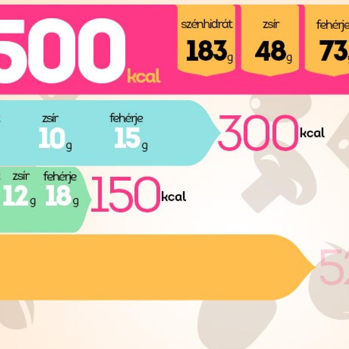 3000 kalória étrend koplalás fogyás