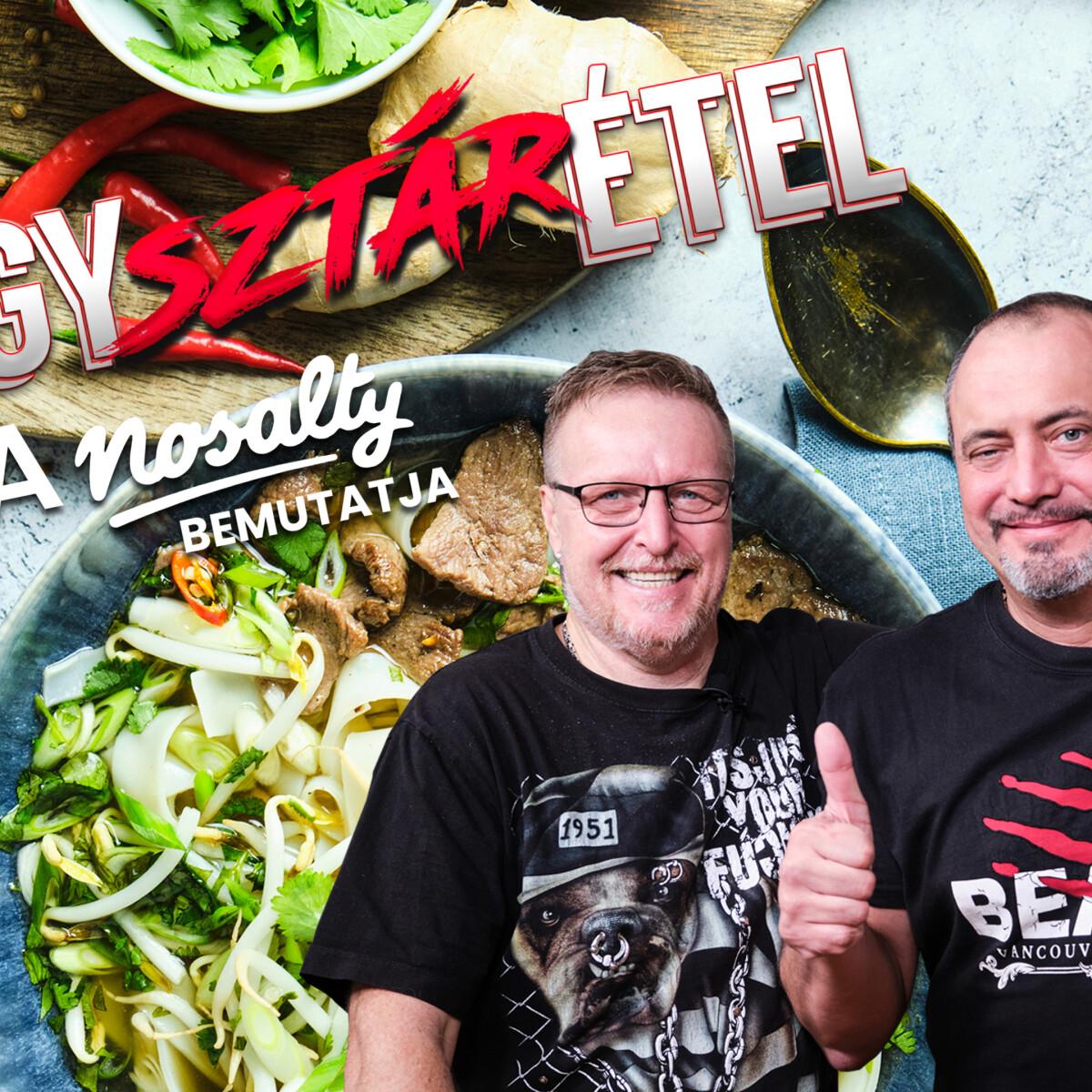 Egysztárétel: Az Irigy Hónaljmirigy Uszkó Lacija és Papp Ferije kacsamelles pho levest főztek