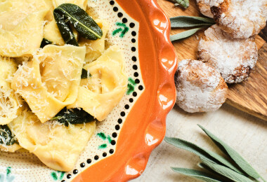 Azta'Pasta - Tortelli di zucca, avagy sütőtökös töltött tészta házi amarettivel