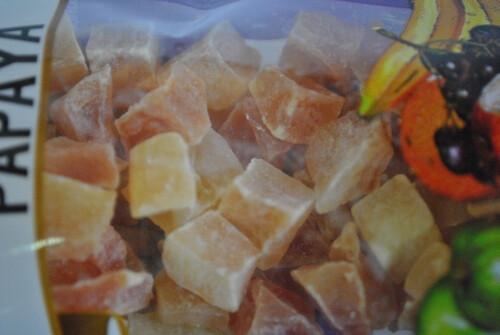 Ezen a képen: Kandírozott papaja