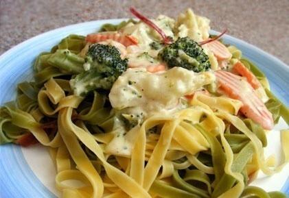 zöldséges tészta