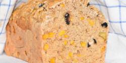 Kukoricás-olívás kenyér