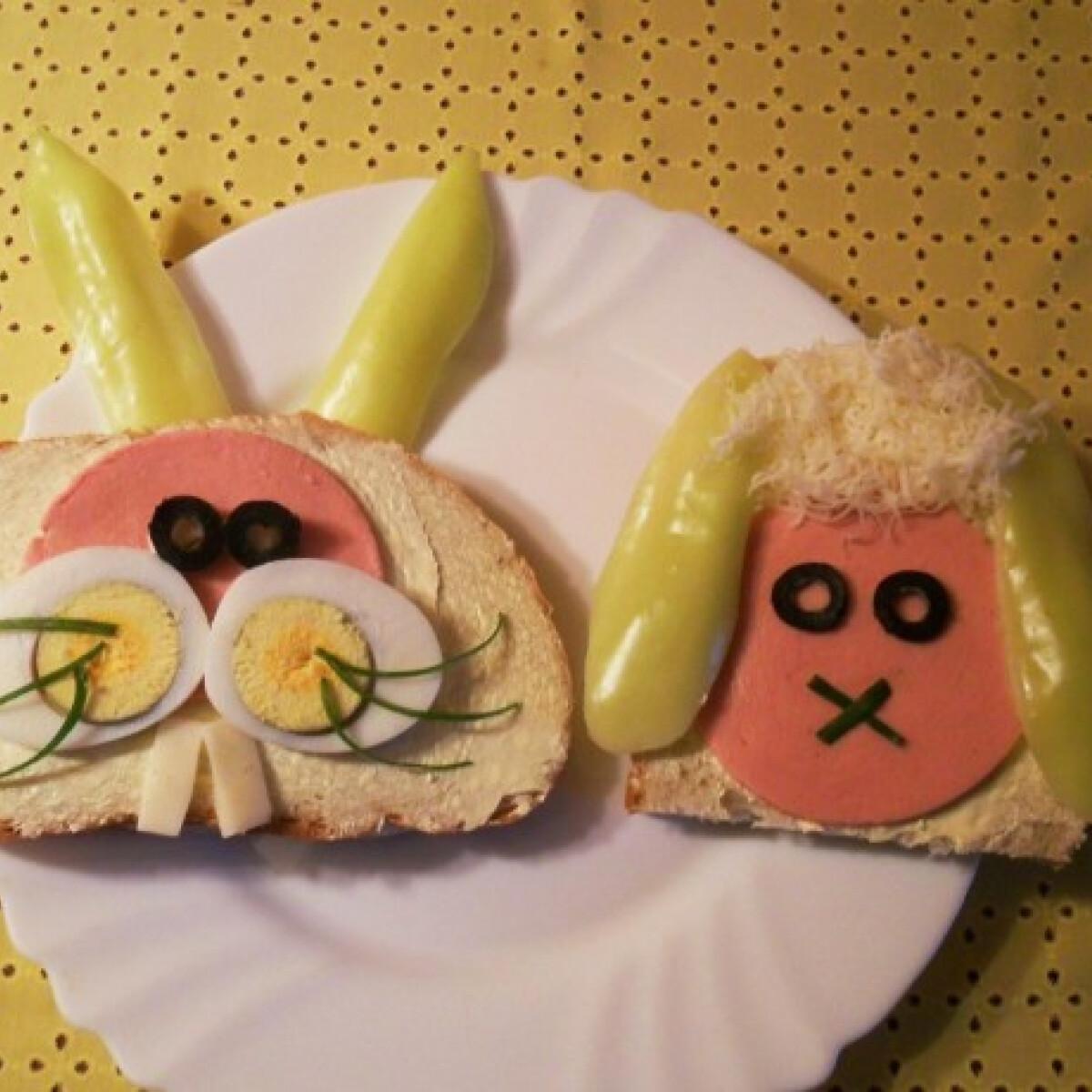 Ezen a képen: Bárányos és nyuszis szendvics