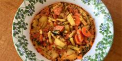 Kolbászos zöldbableves Pogácsa konyhájából