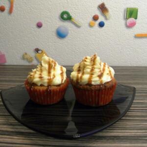 Banános karamelles cupcake
