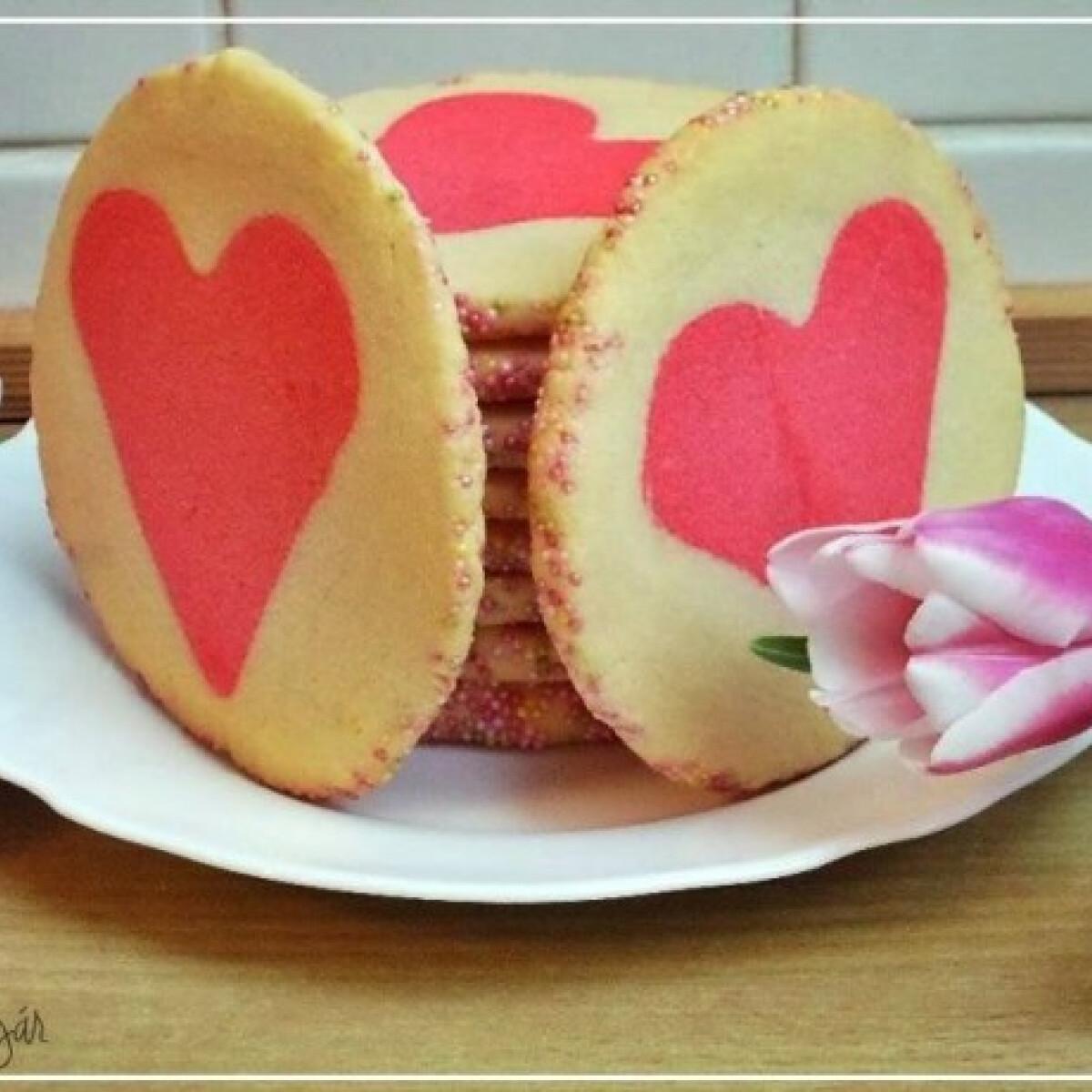 Ezen a képen: Szívecskés keksz