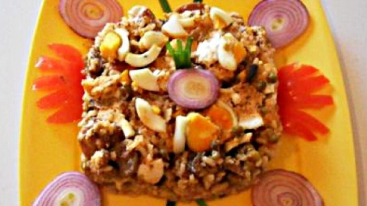 Tojásos rizses hús