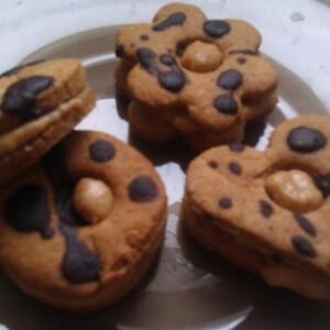 Karamellás töltött keksz