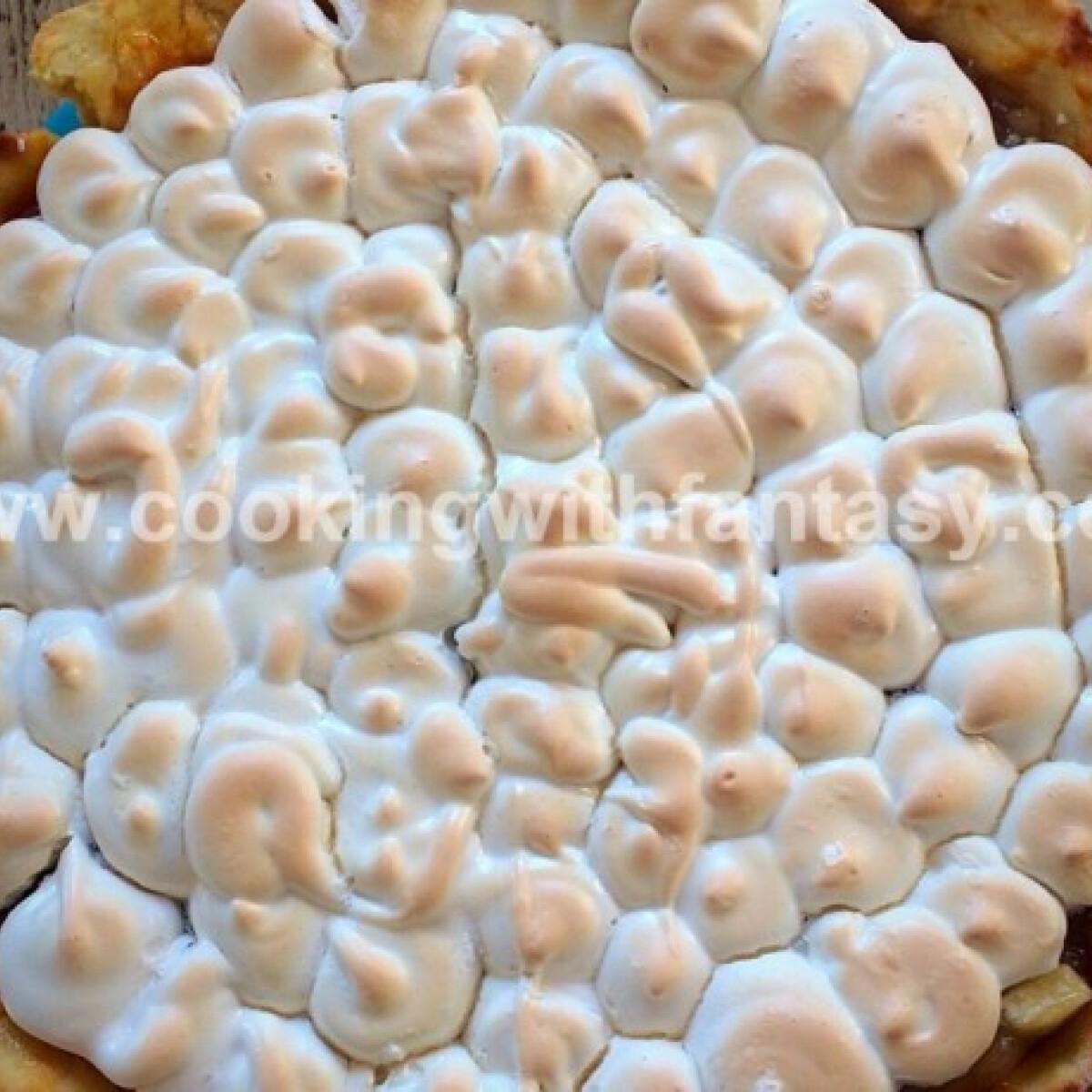 Almás pite habtetővel