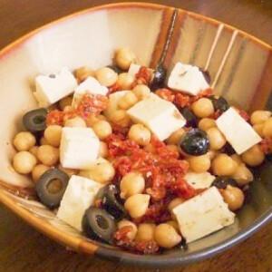 Mediterrán saláta 2. - csicseriborsóval