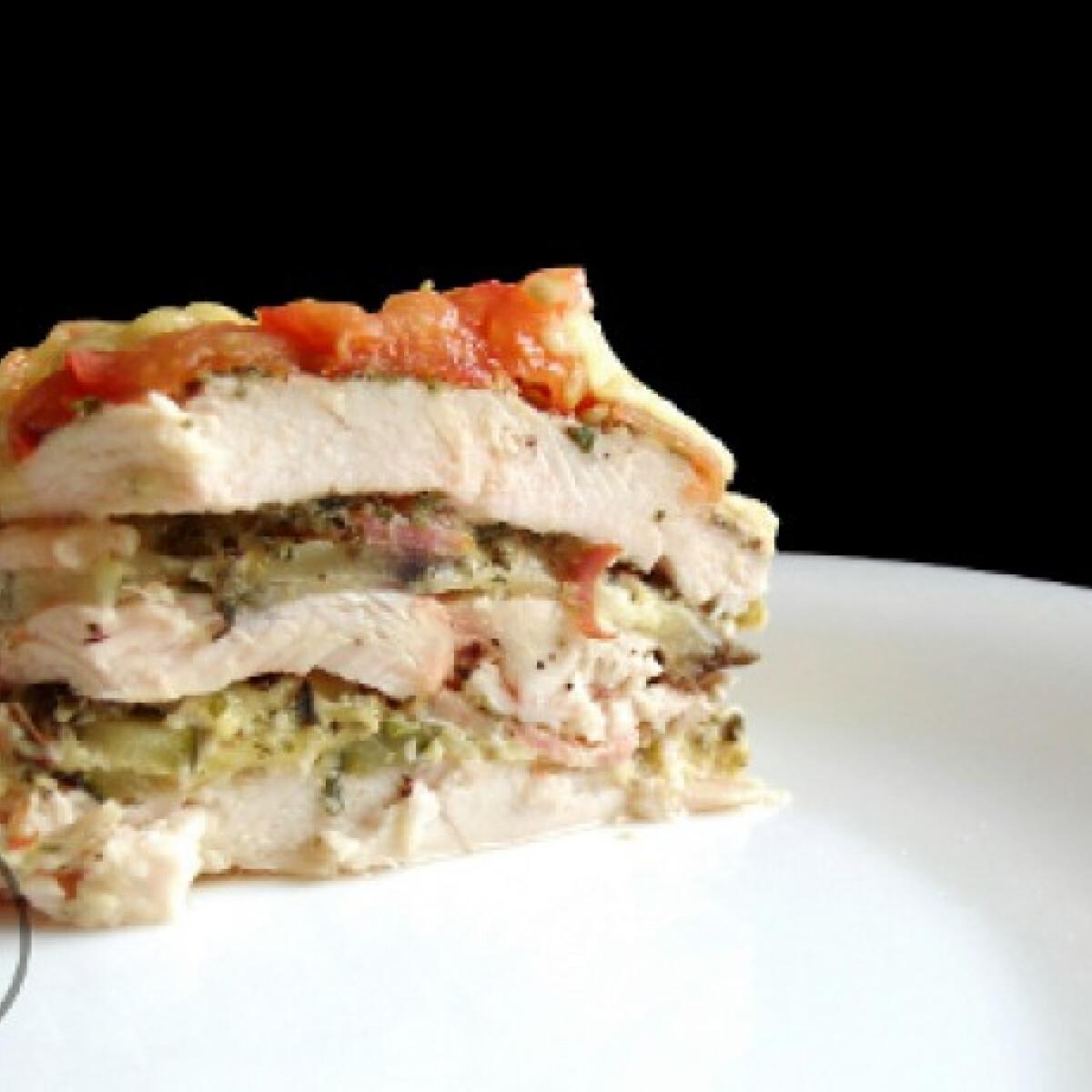 Ezen a képen: Csirketorta ahogy Illatok a konyhámból készíti