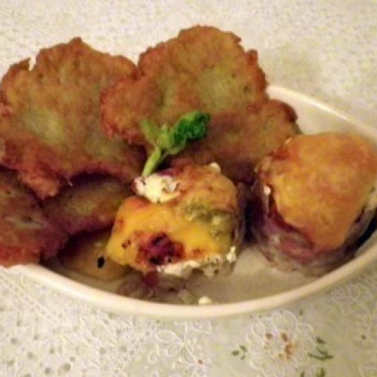 Ezen a képen: Hústekercsek cukkinivel és baconnel