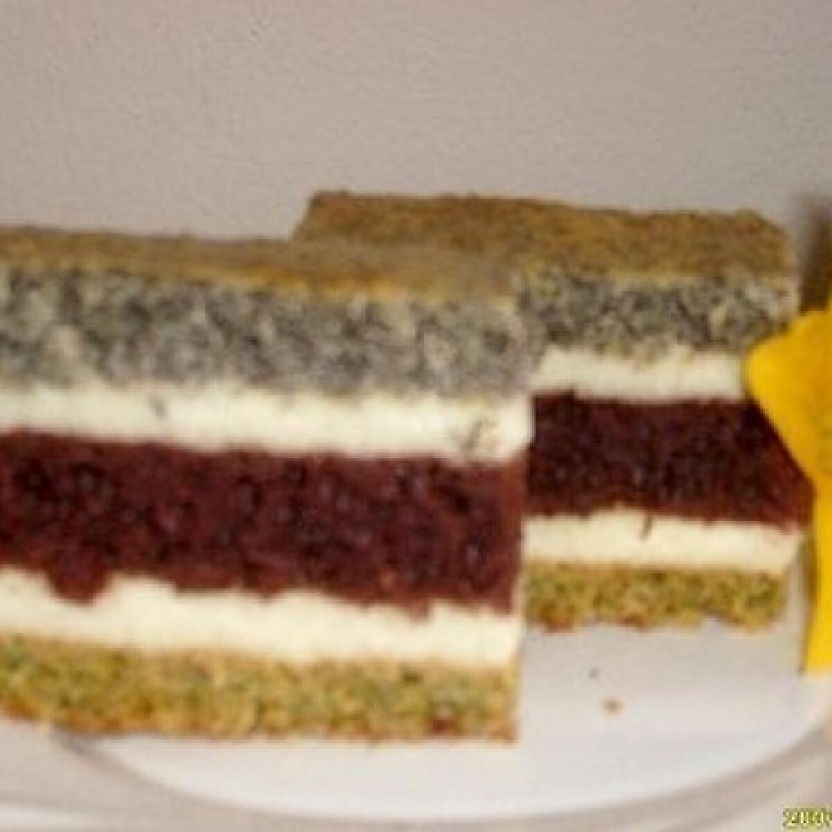 Ezen a képen: Kakaós-mákos-diós süti