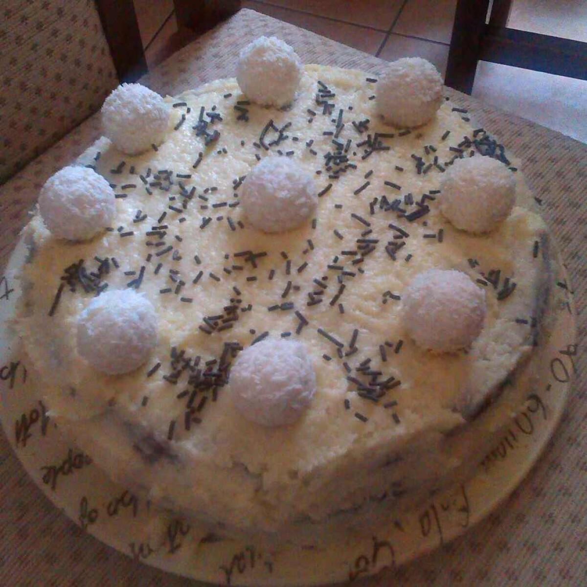 Ezen a képen: Raffaello torta Giovanna konyhájából