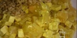 Édes-csípős ananászos tofu-curry