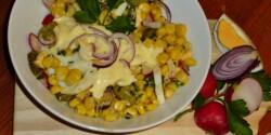 Pikáns kukoricás tojássaláta Márti konyhájából