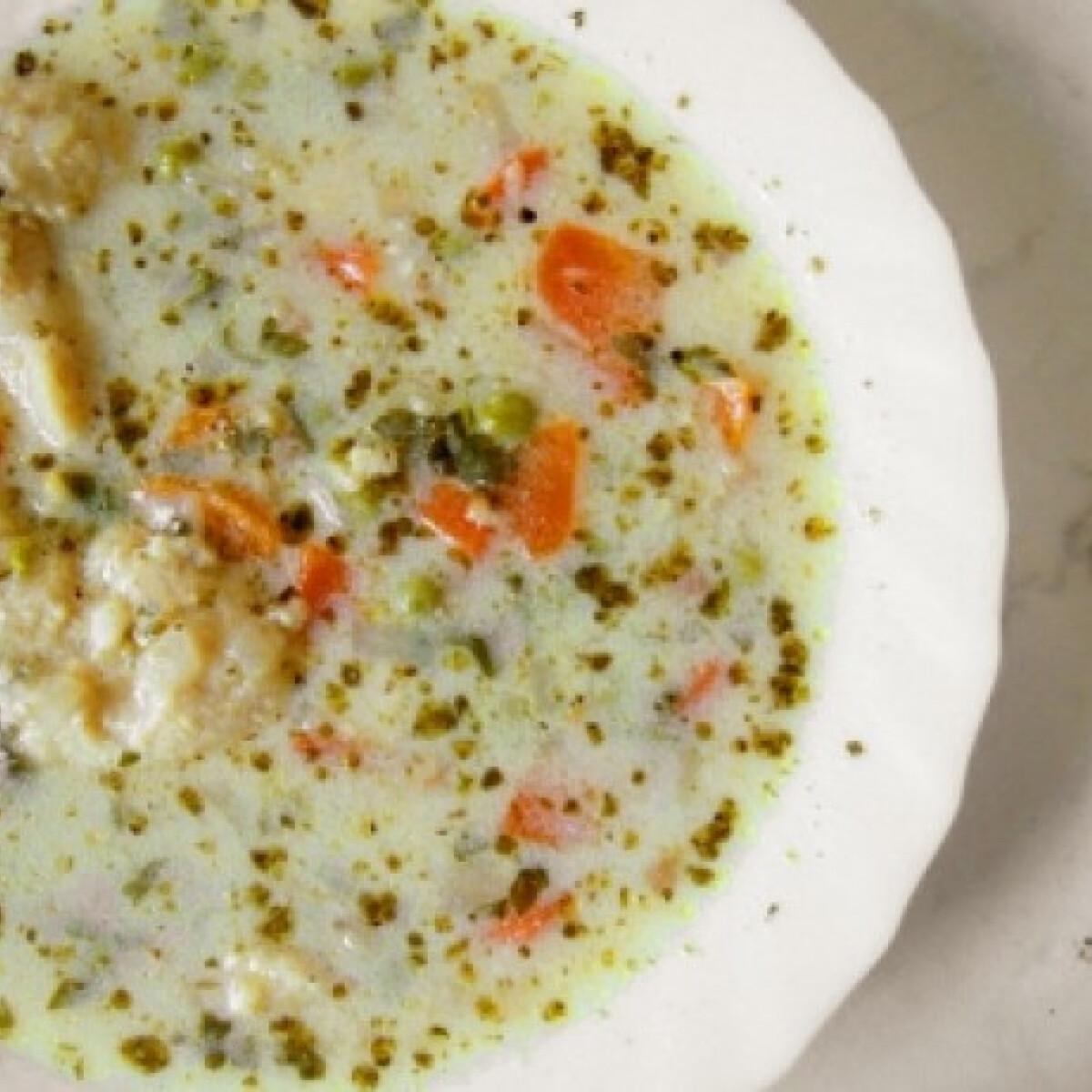 Tejfölös tavaszi leves sajtgaluskával