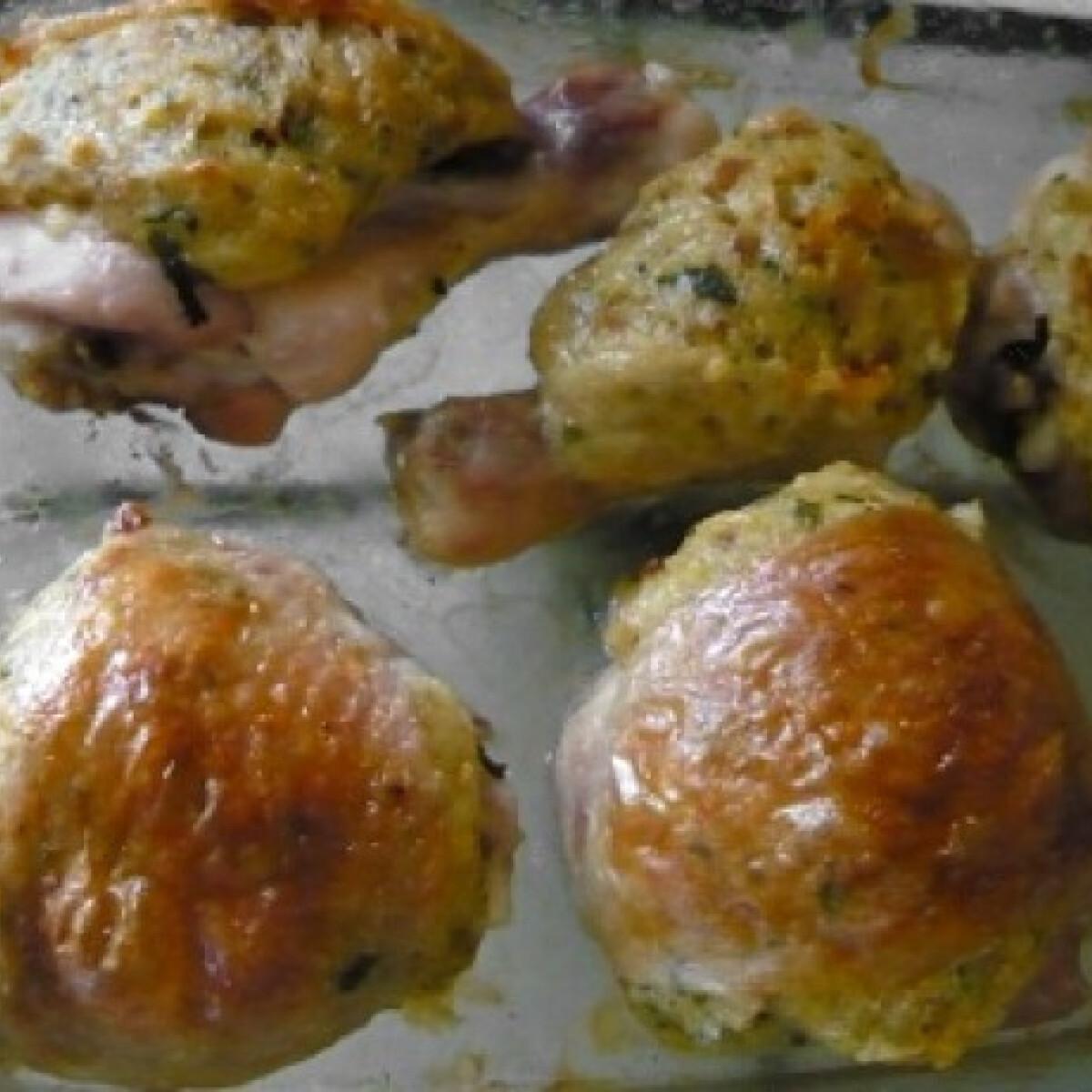 Ezen a képen: Töltött csirkecomb Renáta konyhájából