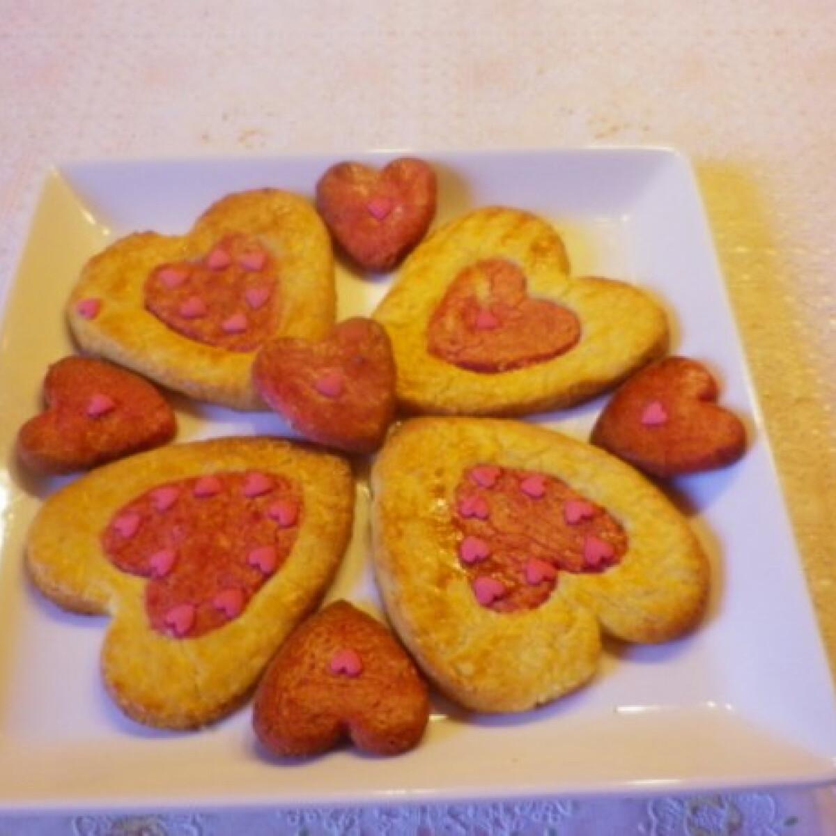 Valentin-napi mandulás-narancsos keksz