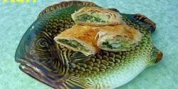 Spenótos-halas rétes
