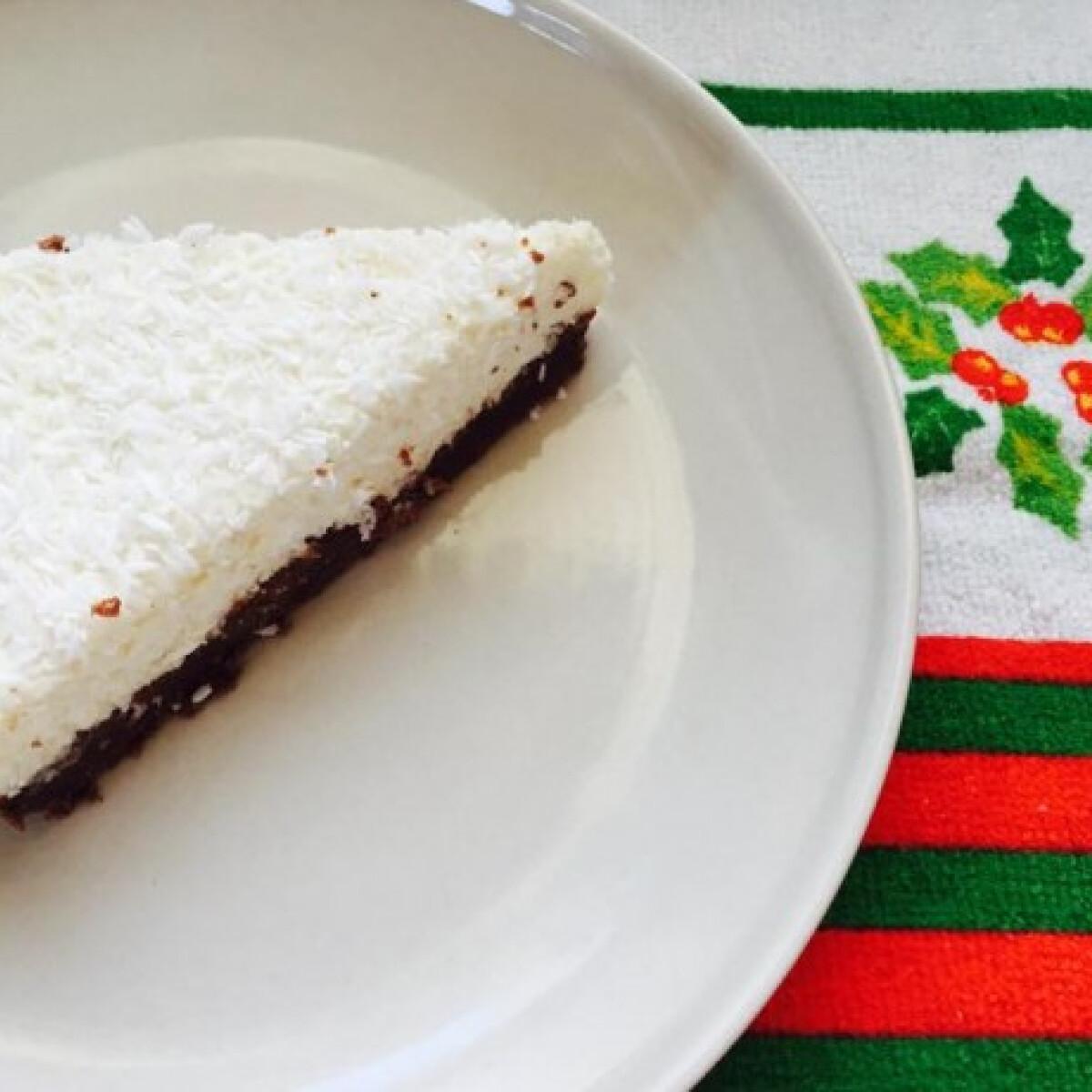 Kókuszos-túrós pite sütés nélkül