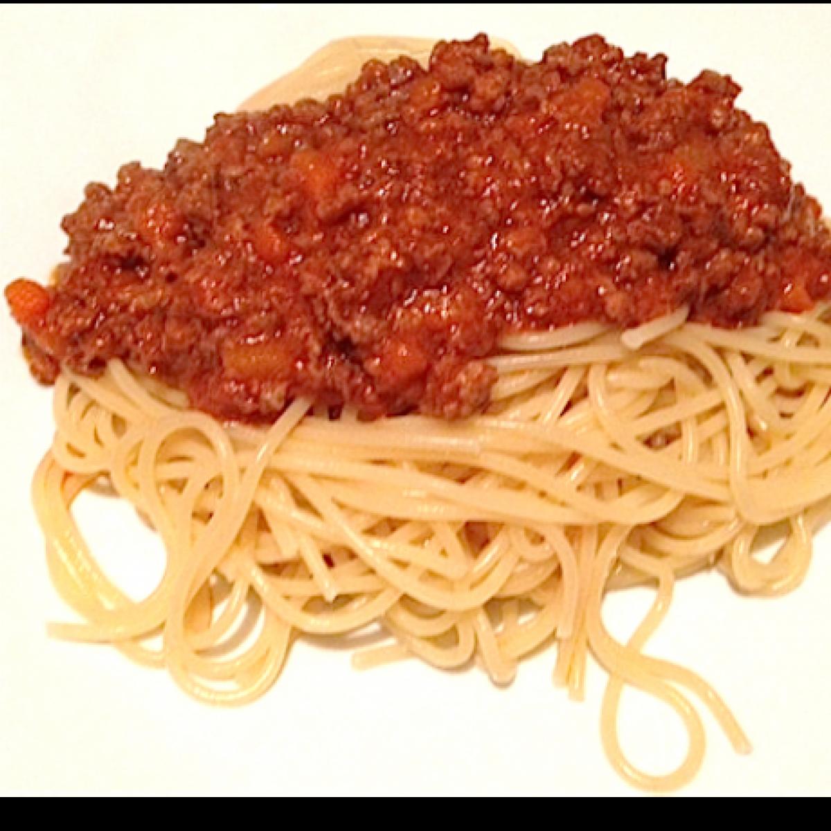 Ezen a képen: Spaghetti al Ragú di Carne