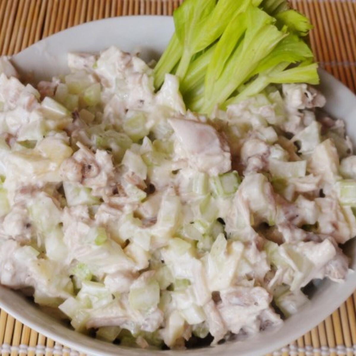 Halványító zelleres-almás csirkehússaláta
