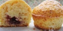 Linzer - muffin málnalekvárral