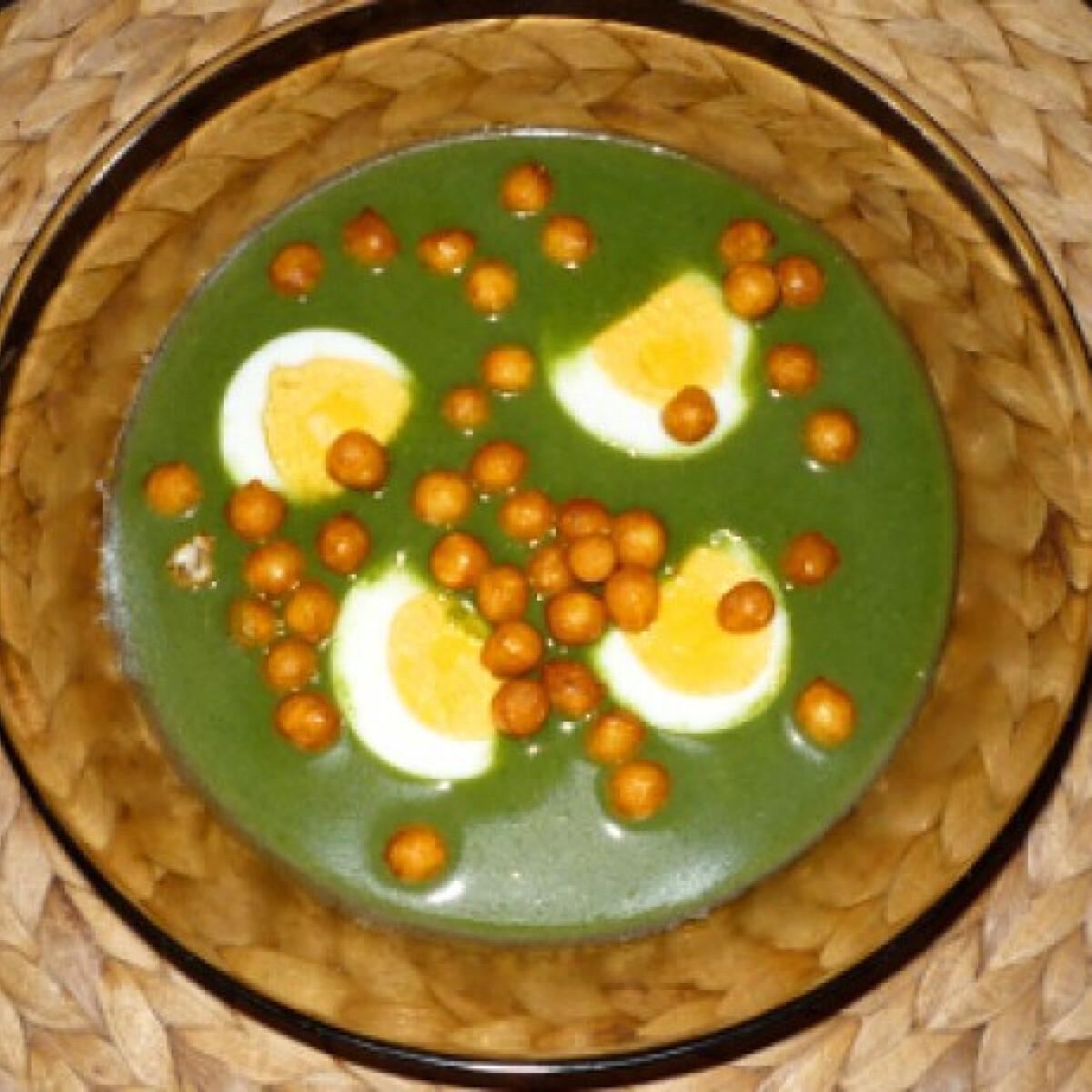 Spenótos-rukkolás leves