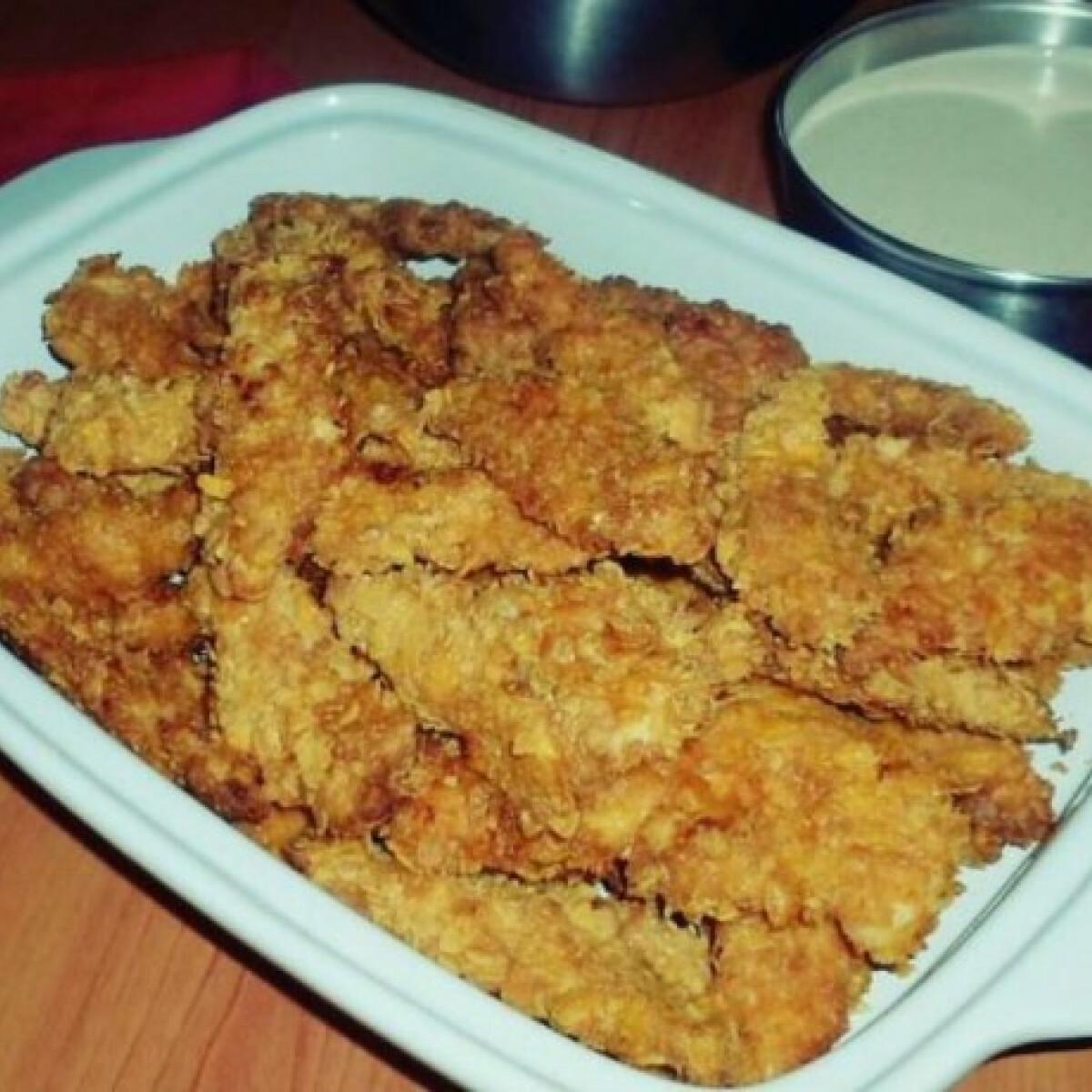 Ezen a képen: Csirkemell corn flakes bundában