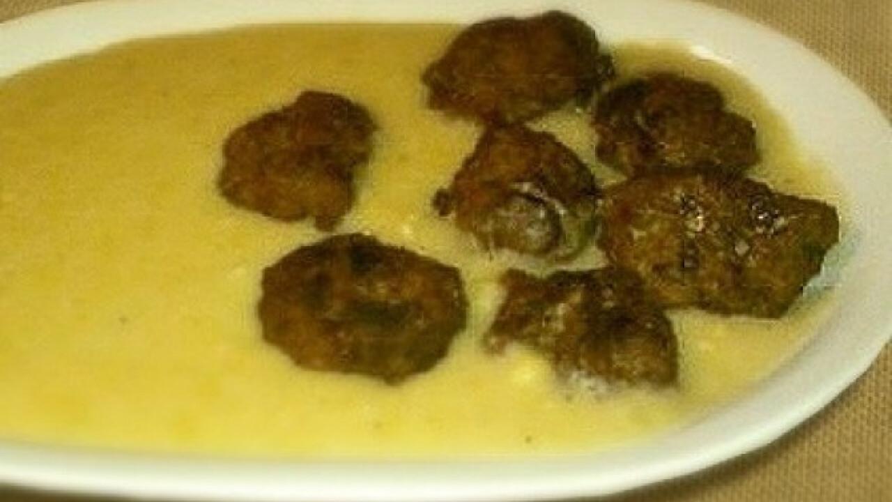 Sárgaborsó főzelék 2. -fasírtgolyócskákkal
