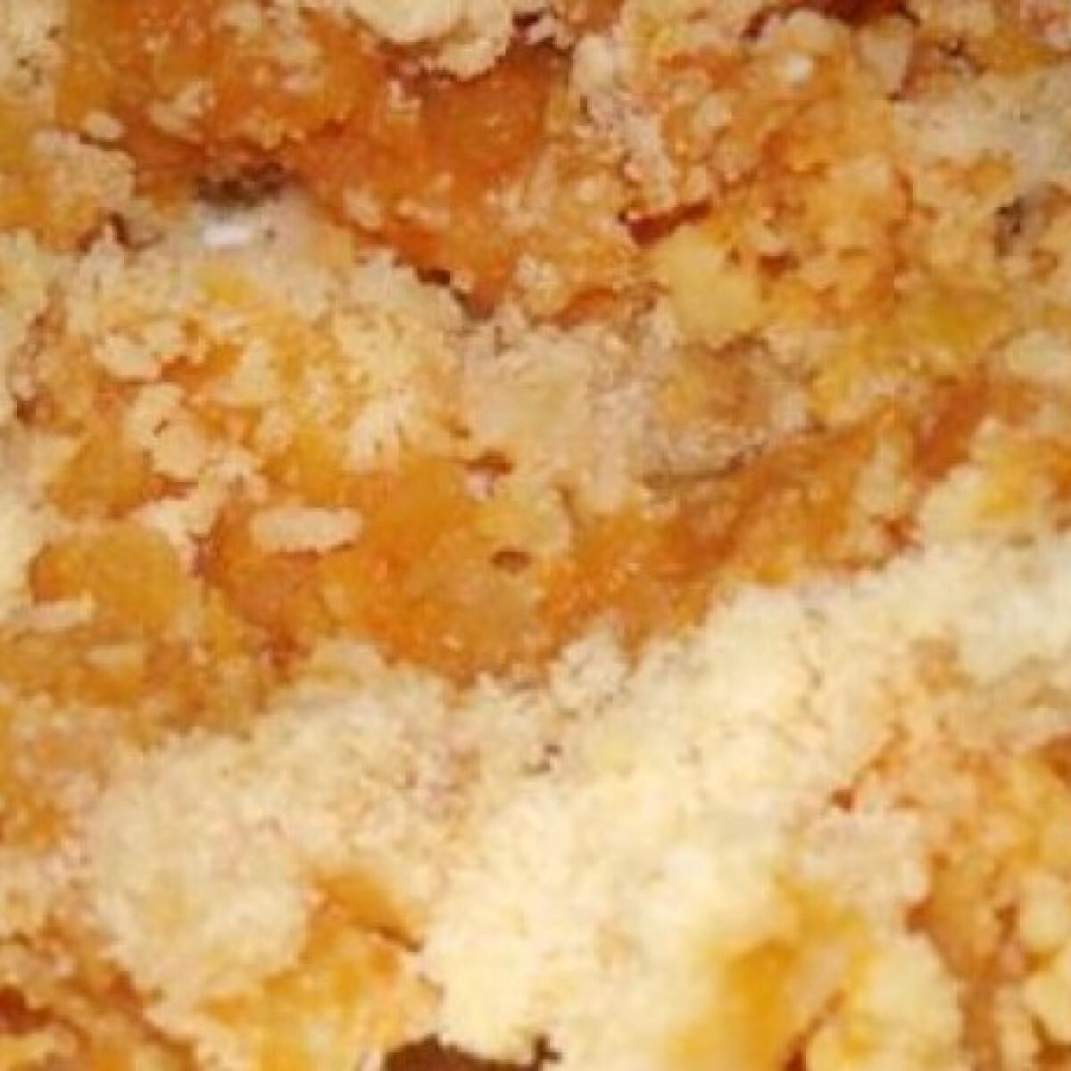 Sütőtökös-almás morzsasüti