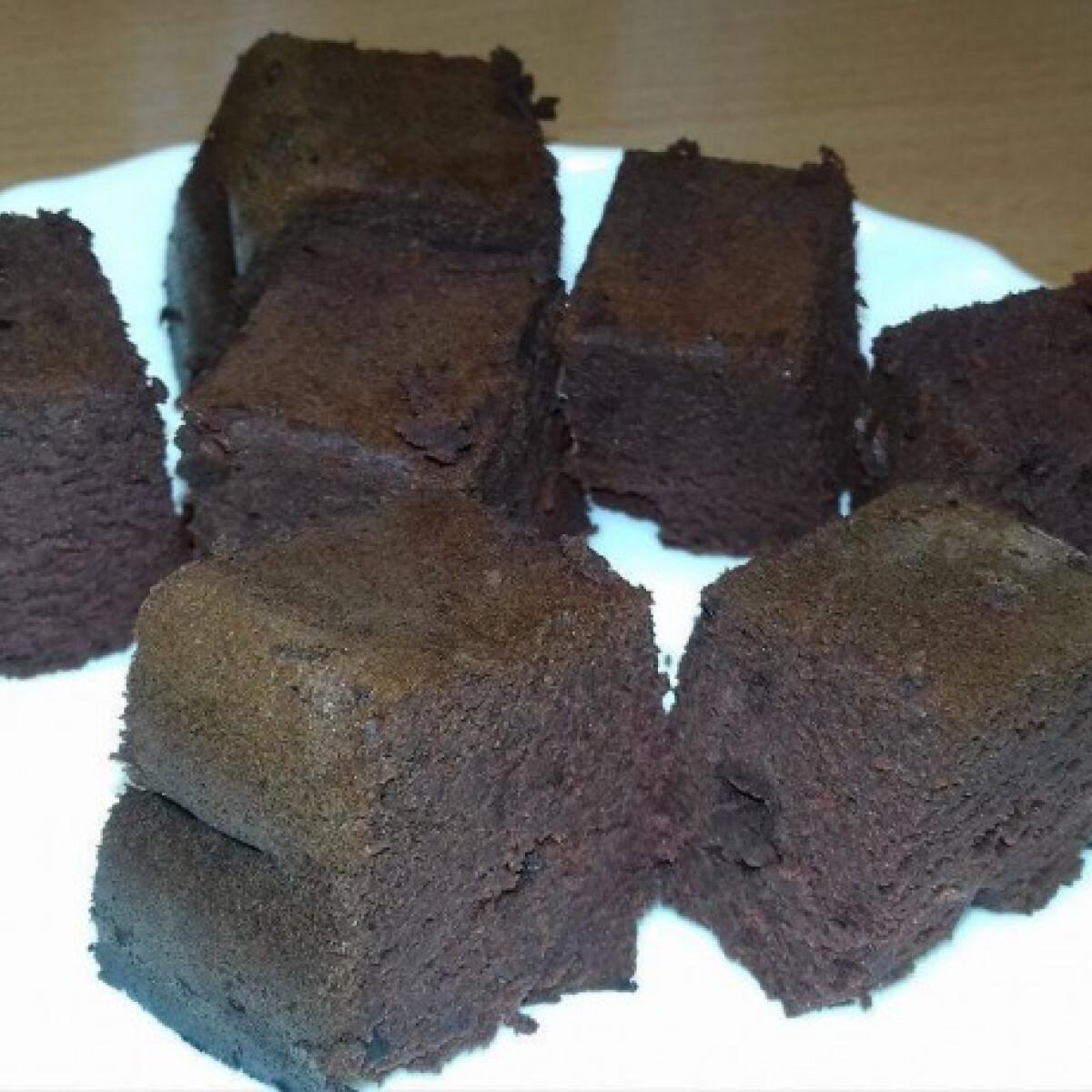 Céklás-csokis wellness brownie