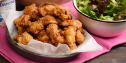Csirkefalatkák joghurtos bundában
