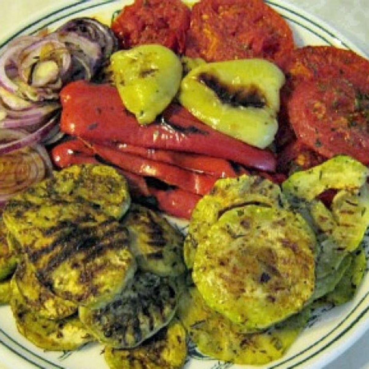 Grill zöldségtál