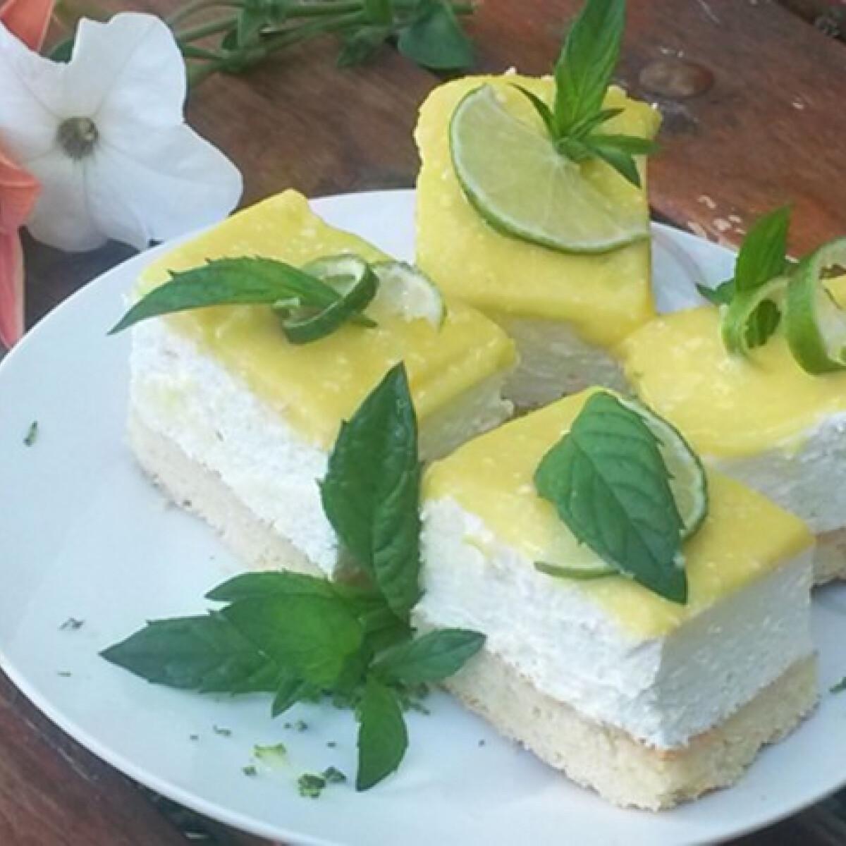 Ezen a képen: Citromos túrószelet Lisza konyhájából