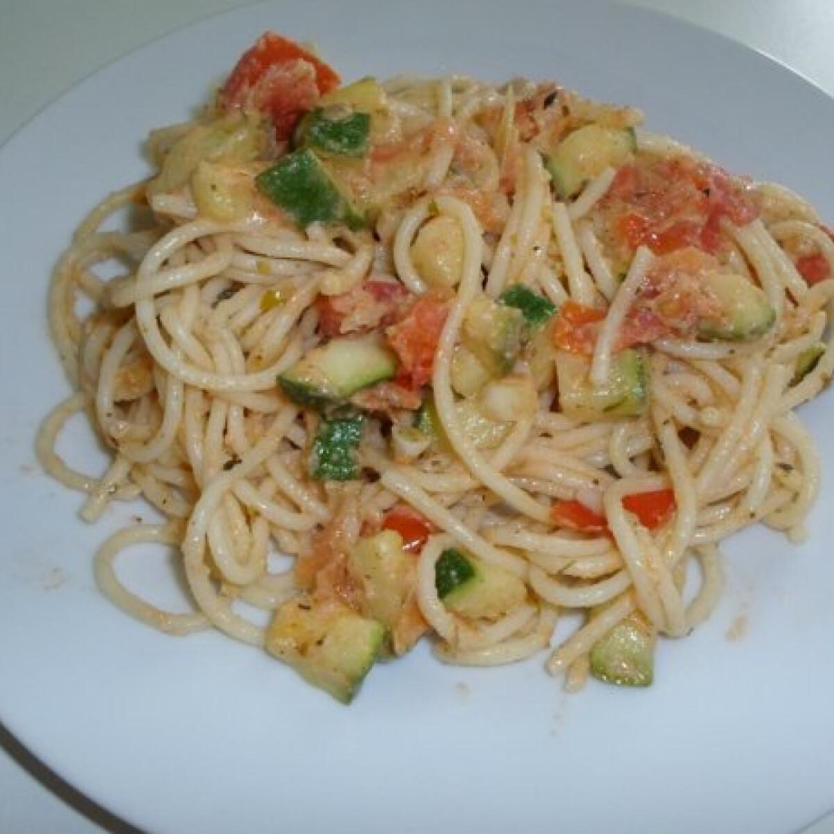 Ezen a képen: Zöldséges spagetti Cynthia konyhájából
