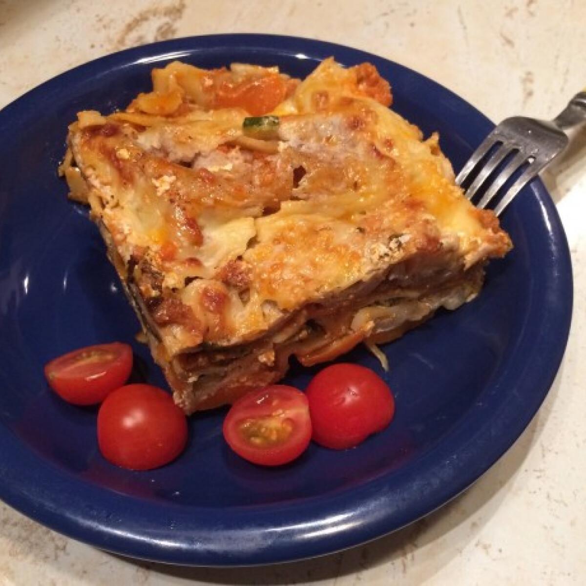 Cukkinis-répás lasagne