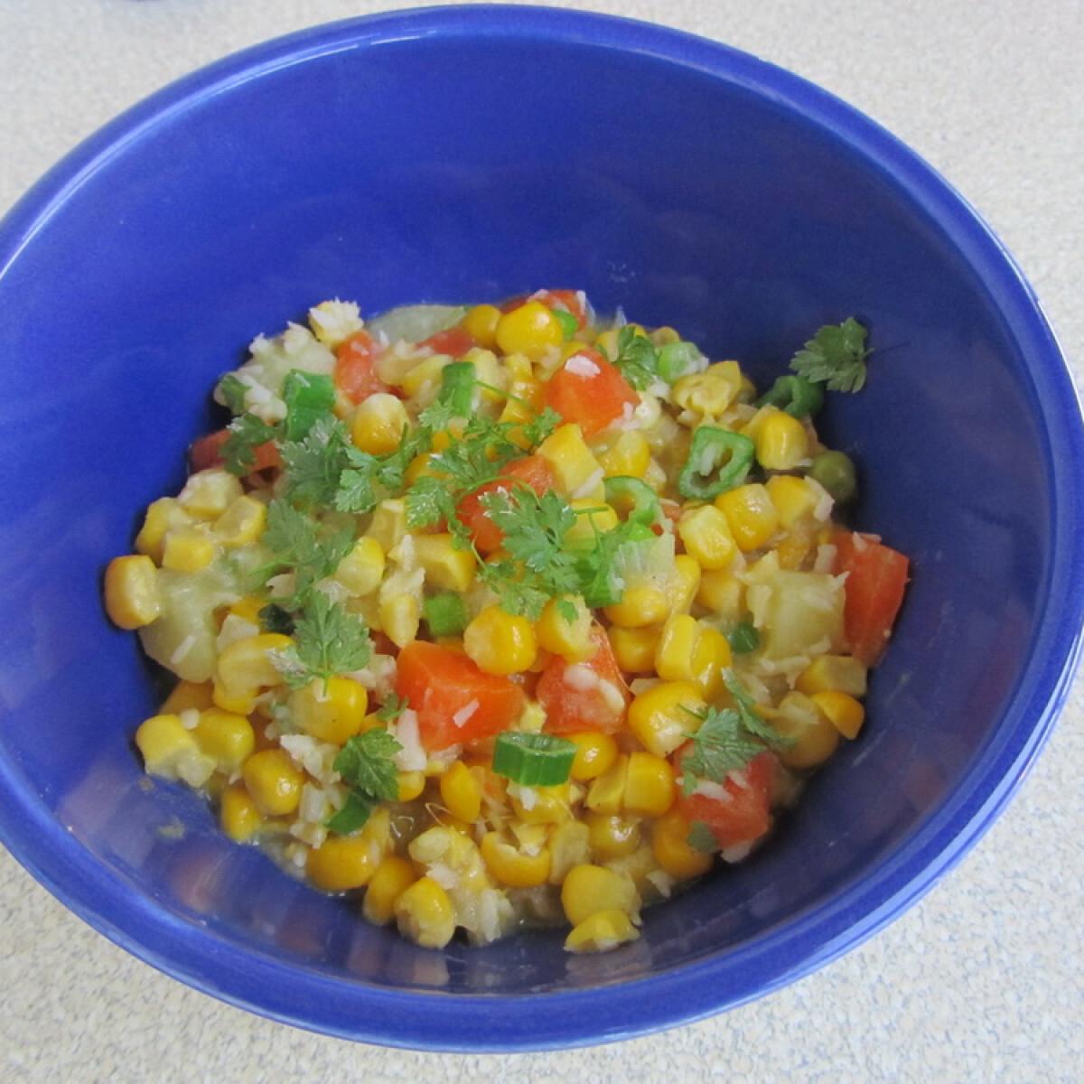 Ezen a képen: Kukorica-curry kókusszal