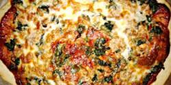 Spenótos-tonhalas pizza Gonoszkától