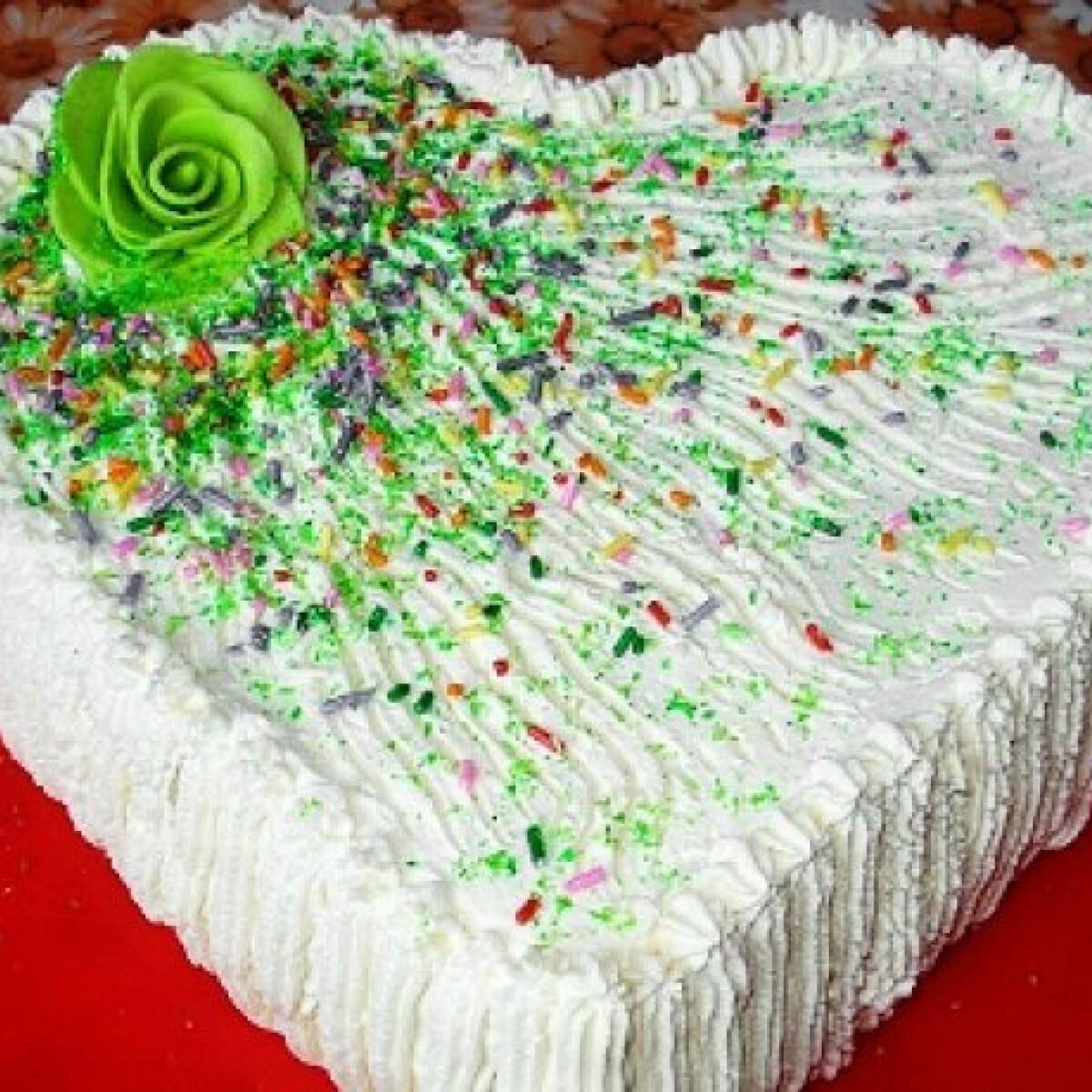 Kakaókrémes szívalakú torta