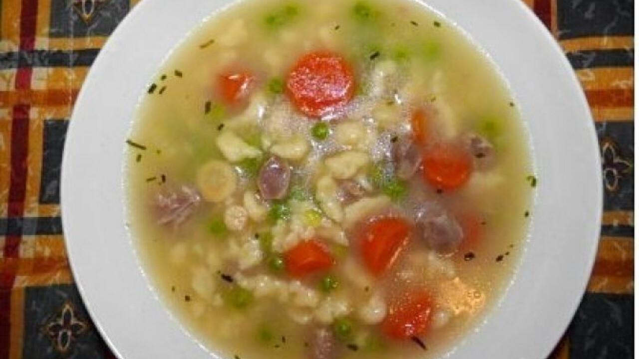 Csirkezúzás leves 2. - galuskával