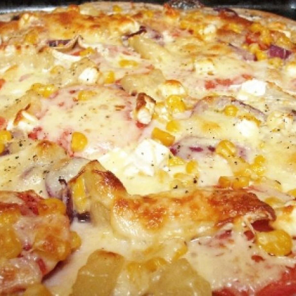 Ezen a képen: Graham-lisztes házi pizza