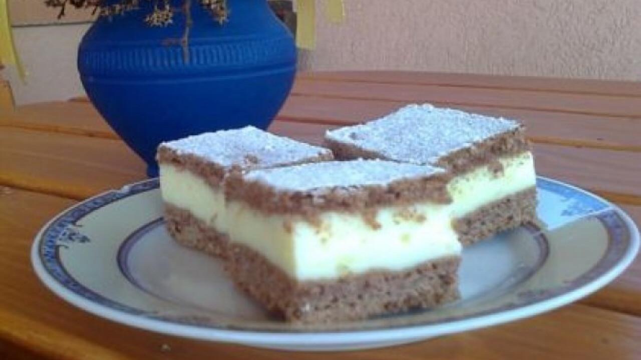 Vaníliás-tejfölös szelet