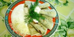 Kapros palacsinta sajtos-fűszeres tejföllel
