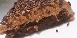 Kávés-csokis brownie tej- és tojásmentesen