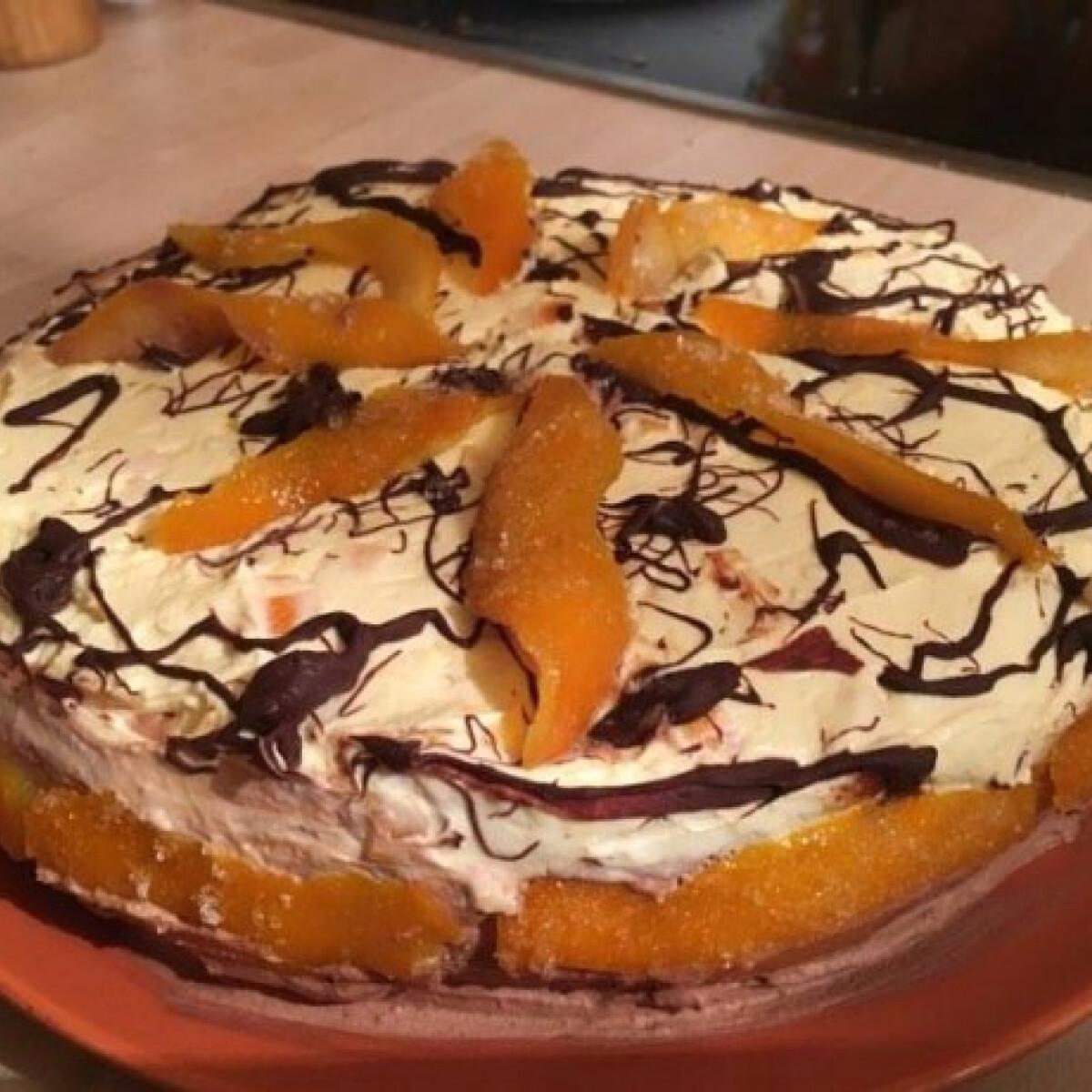 Ezen a képen: Csokoládés-narancsos torta